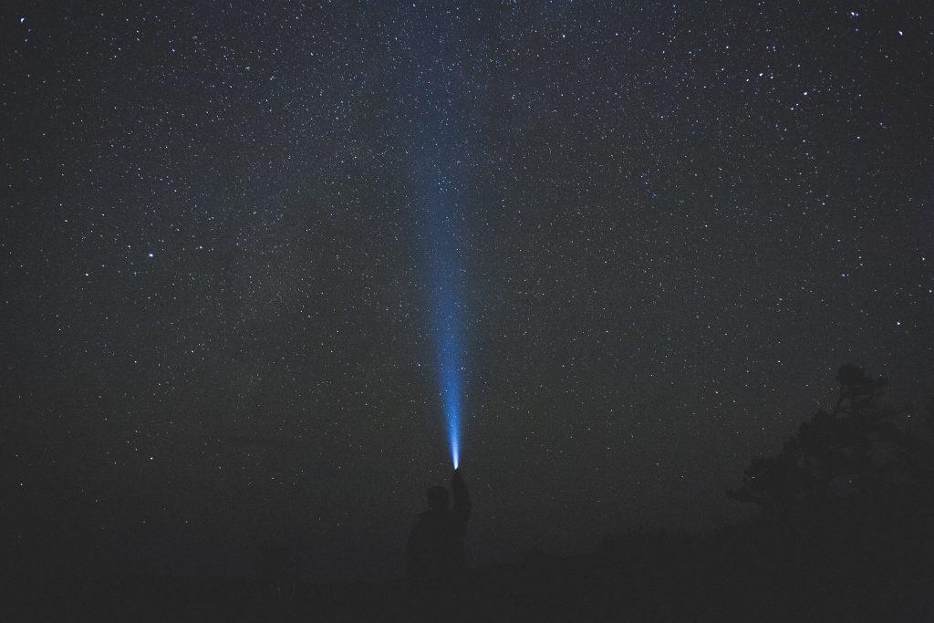 stargazing and flashlight