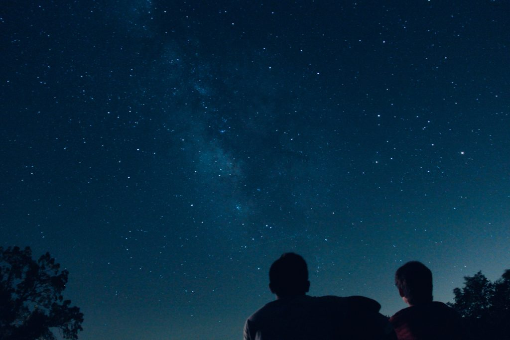 stargazing as a family