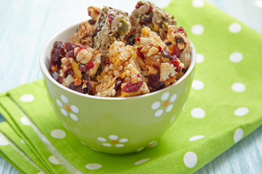 protein bars, energy bars, granola bars