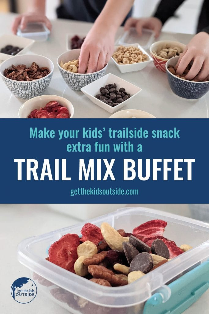 Make your kids' trailside snacks extra fun with a trail mix buffet